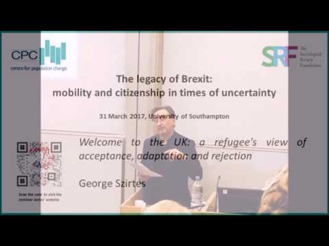 Welcome to the UK: a refugee's view of acceptance, adaptation and rejection (George Szirtes)