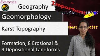 Karst Topography (By Underground Water) - Formation, 8 Erosional and 9 Depositional Landforms