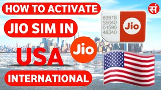 #Jiointernational   How To Activate Jio Sim In Usa   How To Use Jio Sim In Usa   🇺🇸 🇺🇸 🇺🇸  Jio 🌎