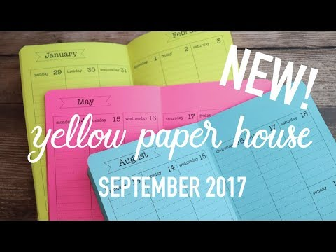 NEW YELLOW PAPER HOUSE ITEMS - September 2017