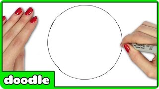 circle draw drawing perfect freehand easy step getdrawings
