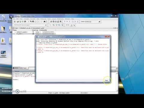 Compile and Simulate Verilog in ModelSim - YouTube
