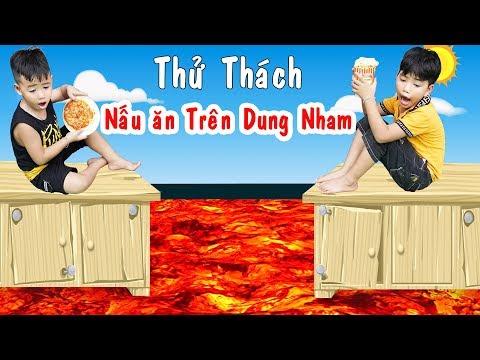 Thử Thách Nấu Ăn Trên Dung Nham   Cooking Challenge On Lava ♥ Min Min TV Minh Khoa