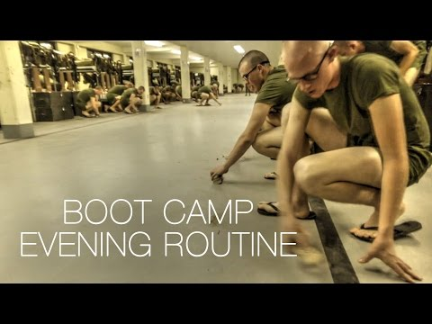 How Marine Recruits Finish a Day at Boot Camp