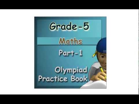 Olympiad maths practice ebook for 5th class students tutorials - YouTube