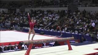 Jana Bieger (USA) Balance Beam Team Qualifcations 2006 Aahrus World Championships