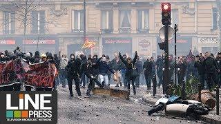 Manifestation fonction publique - colère et violents heurts / Paris - France 22 mars 2018
