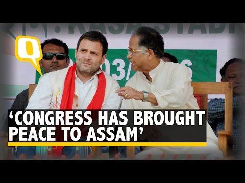 Congress Has Brought Peace to Assam: Rahul Gandhi