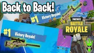 Going BACK to BACK! - Fortnite: Battle Royale - Winning Game Highlights! - Sick Snipes
