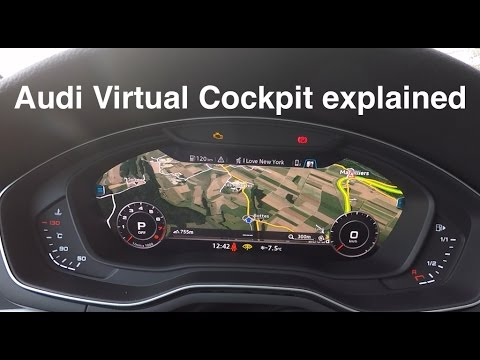 audi virtual cockpit explained youtube. Black Bedroom Furniture Sets. Home Design Ideas