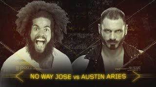 Austin Aries collides with a furious No Way Jose at NXT TakeOver: Brooklyn II