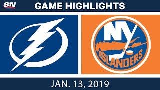 NHL Highlights | Lightning vs. Islanders - Jan. 13, 2019