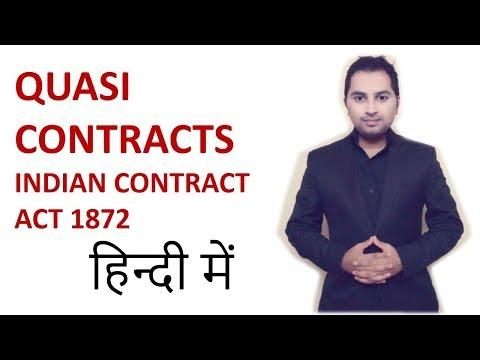 Quasi contract - indian contract act 1872 | CA CPT | CS & CMA | LLB | ccs