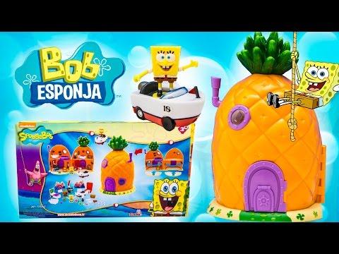 SpongeBob House SpongeBob SquarePants Pineapple House Playset Bob Esponja Губка Боб Toy Videos