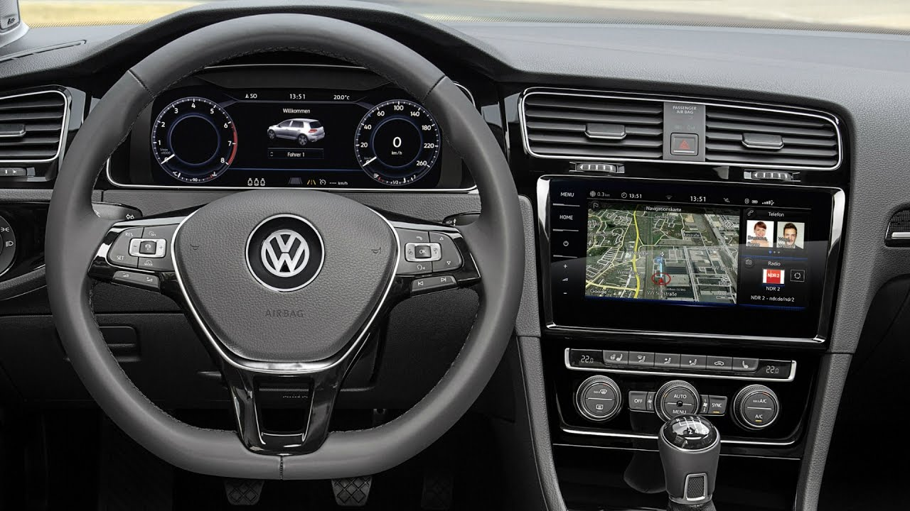 2017 Volkswagen Golf Mk7 Facelift Interior Youtube