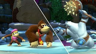 Donkey Kong Country Tropical Freeze Co-op Walkthrough - World 5 - Juicy Jungle (All Collectibles)
