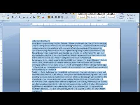 Microsoft  Word  2007  Tutorials part 01-13