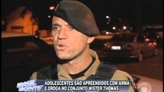 Adolescentes são apreendidos com arma e droga no Conj. Mister Thomas (13/05)