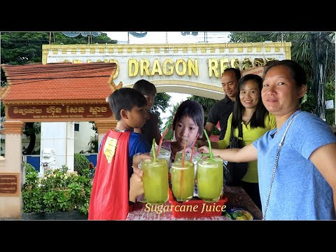 Drink Sugarcane Juice at Saang District & Travel to Chrey Thom the Border of Cambodia & Vietnam