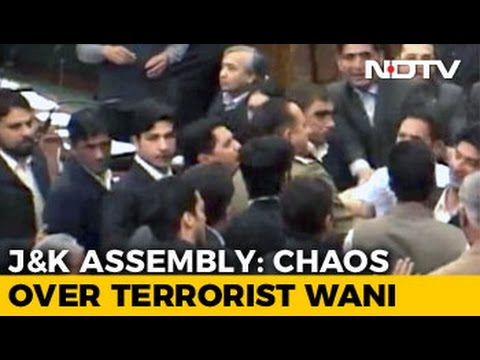 Ruckus In Jammu And Kashmir Assembly Over Unrest, Burhan Wani Controversy