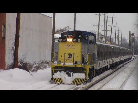 LIRR: Post-Blizzard Railfanning at New Hyde Park