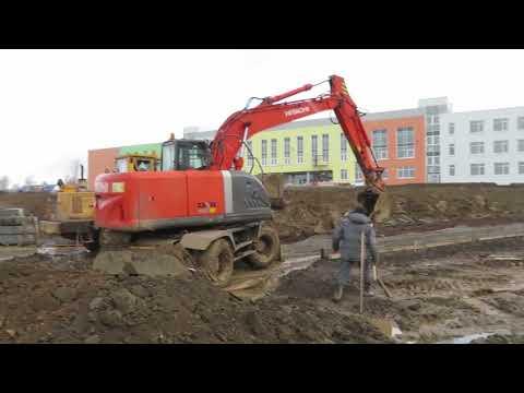 Лысьва. Строительство новой школы на ул. Балахнина, 128.  17.10.2019 г.