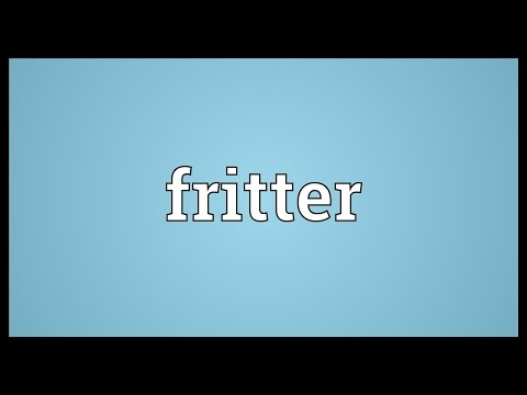 fritter-meaning