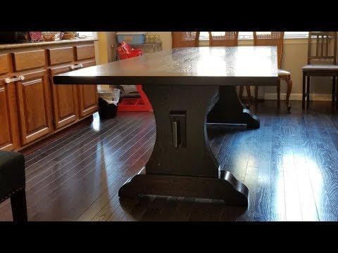 Red Oak Trestle Table