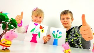 Видео для детей - Лучший подарок маме на 8 Марта
