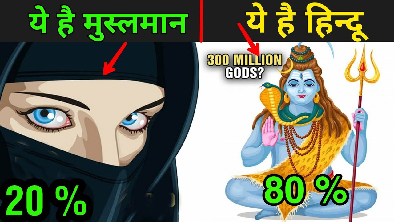 हिन्दू और मुस्लिम में क्या फर्क है | Difference Between Hindu And Muslim