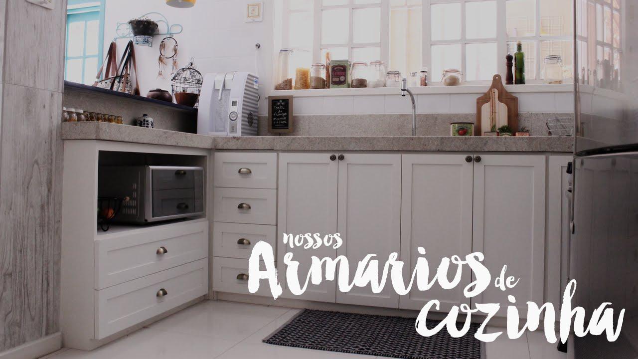 Nosso Armário da cozinha Marcenaria, quanto custou, material e muito mais  # Armario De Cozinha Estilo Fazenda