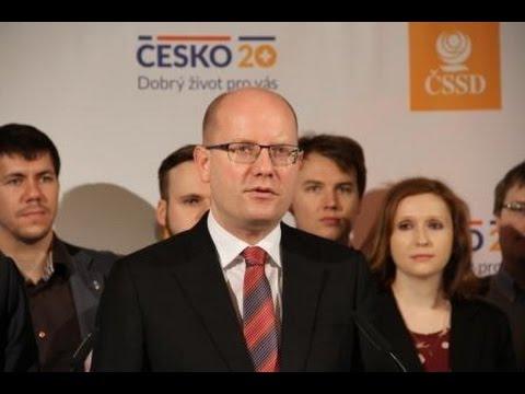 """B. Sobotka slavnostně představil projekt ČSSD """"Česko 20+"""""""
