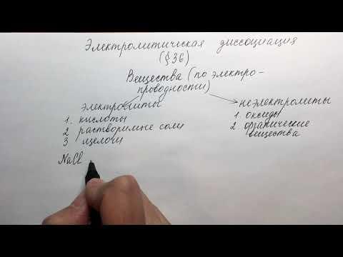 8 класс. Электролитическая диссоциация. Часть 1