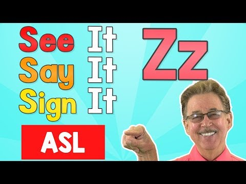 See it, Say it, Sign it   The Letter Z   ASL for Kids   Jack Hartmann