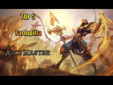 [TOP 5 ] Plays Farlopilla LoL (Master Azyr)