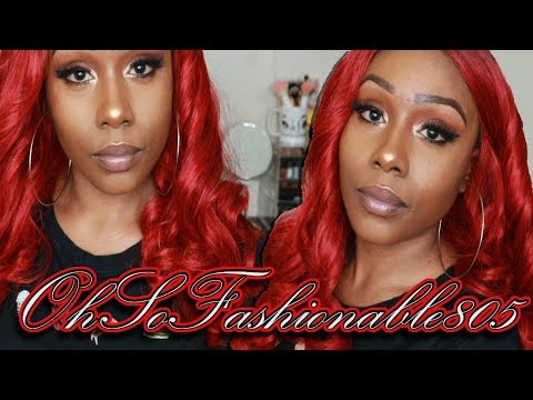RED WINE - MAGIC LACE CURVED PART MLC209 LACE FRONT WIG | CHADE FASHION