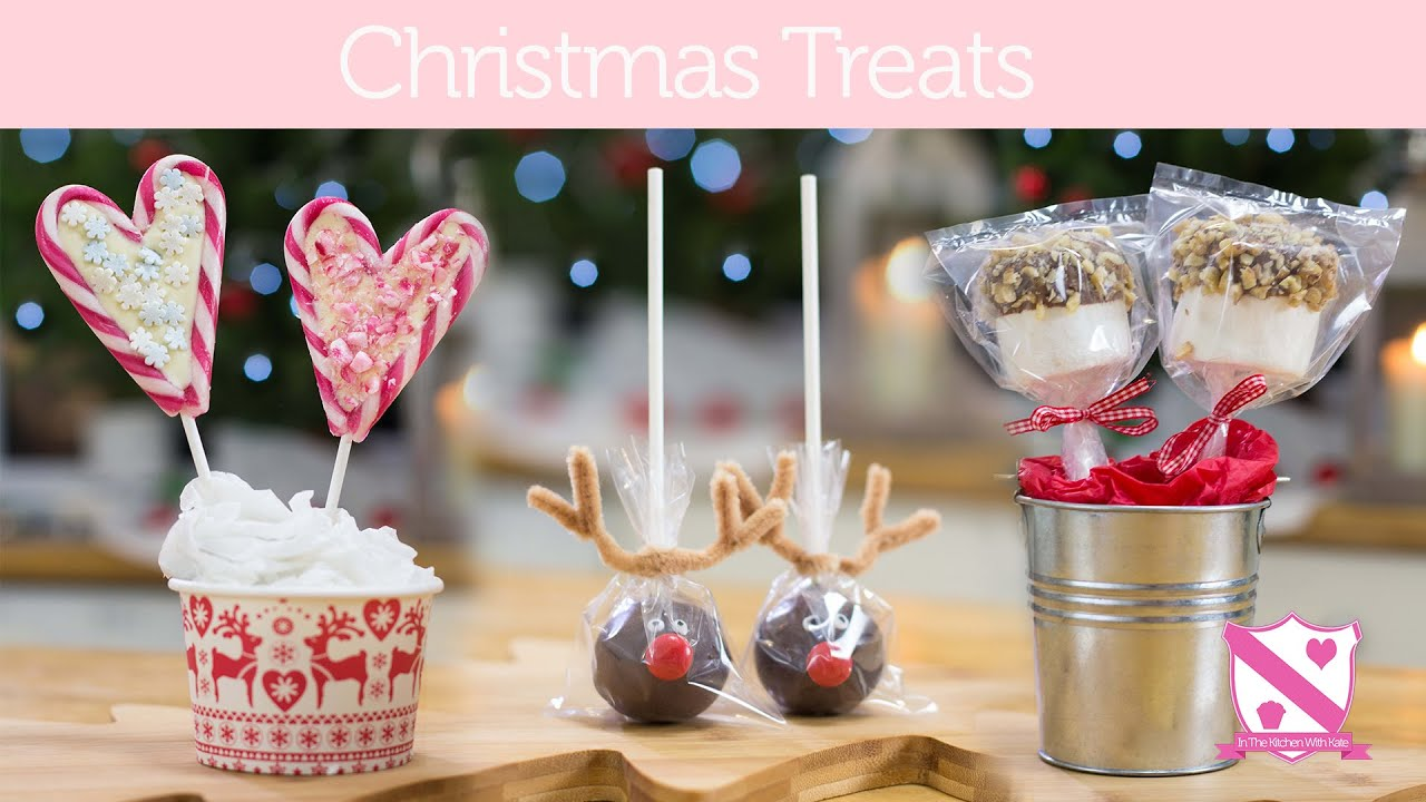 Christmas Gift Ideas: Reindeer Cake Pops, Candy Cane Lollies   In The  Kitchen With Kate   YouTube