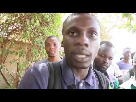 Manifestation anti Macron à l'Université Ouaga I