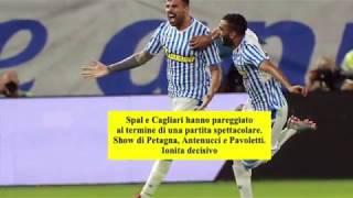Spal-Cagliari 2-2 (10-11-2018) Petagna, Antenucci, Pavoletti e Ionita in gol
