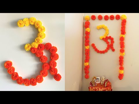 DIY Paper ॐ | Diwali Decoration Ideas at Home | Mandir Decoration Ideas