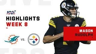 Mason Rudolph Highlights vs. Dolphins   NFL 2019