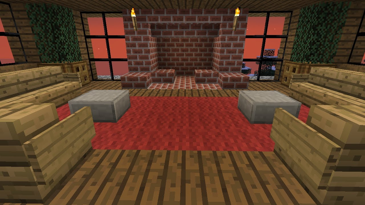 Hard-Core Minecraft: How to Build Furniture and a Fireplace (part ...