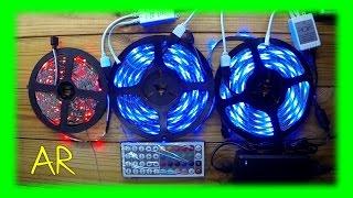 Светодиодные ленты RGB с AliExpress ( посылка из Китая )(5м. 3528 RGB светодиодная лента - 300 светодиодов (60 св/м) + контроллер (44 Key ИК-пульт) + БП 12 В 3A - 11.69$ (день заказа)..., 2015-01-31T10:03:02.000Z)