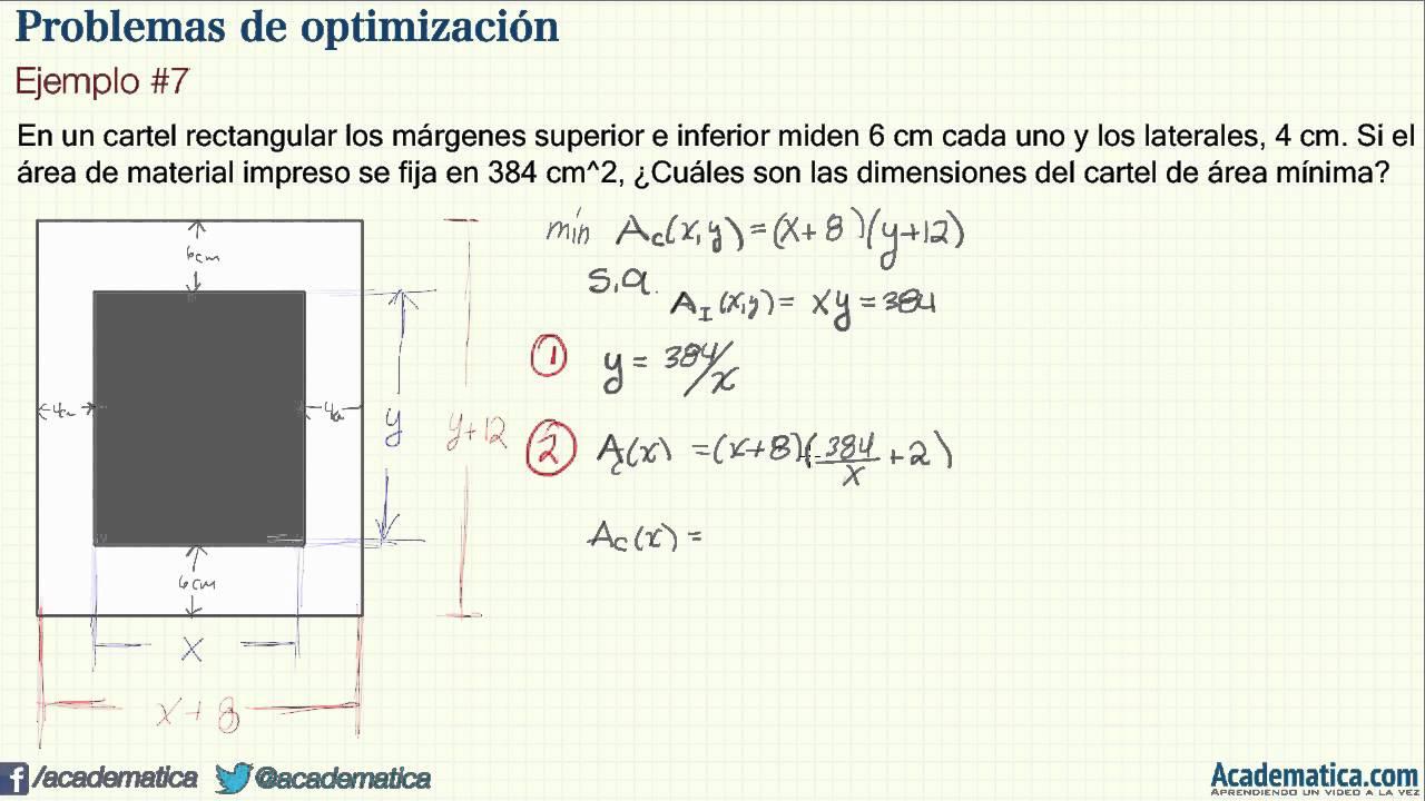 Problemas de optimización - Ejemplo #7 - YouTube