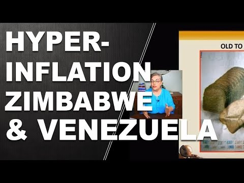 Hyperinflation in Zimbabwe and Venezuela