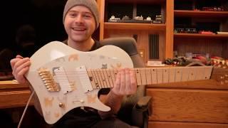 custom abasi 8 string cat guitar