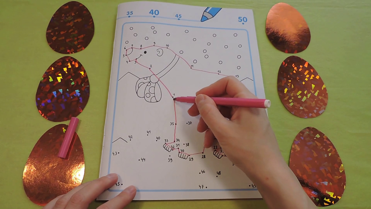 Dot To Dot Drawing For Kids Numbers From 1 To 50 By