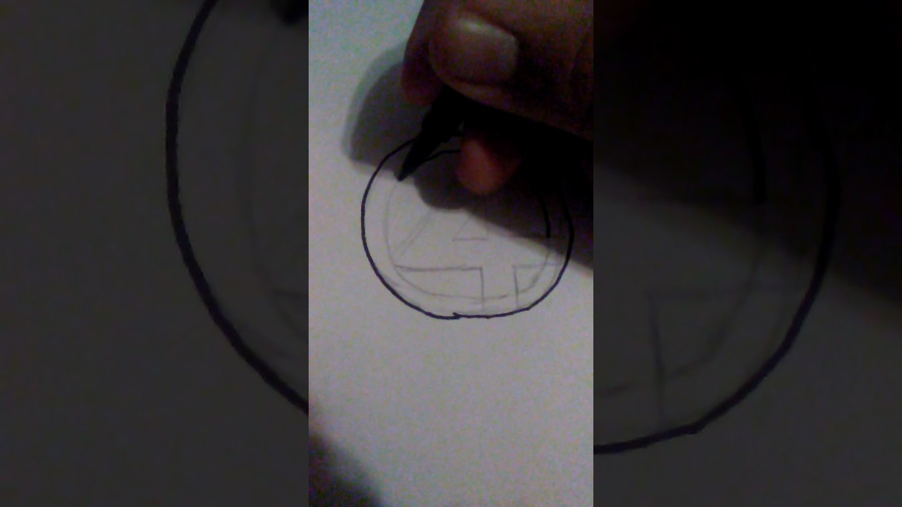 How To Draw The Fantastic Fours Number 4 Symbol Youtube
