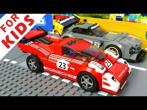 LEGO Cars Race and Experimental Cars Compilation Lego Stop Motion Animation