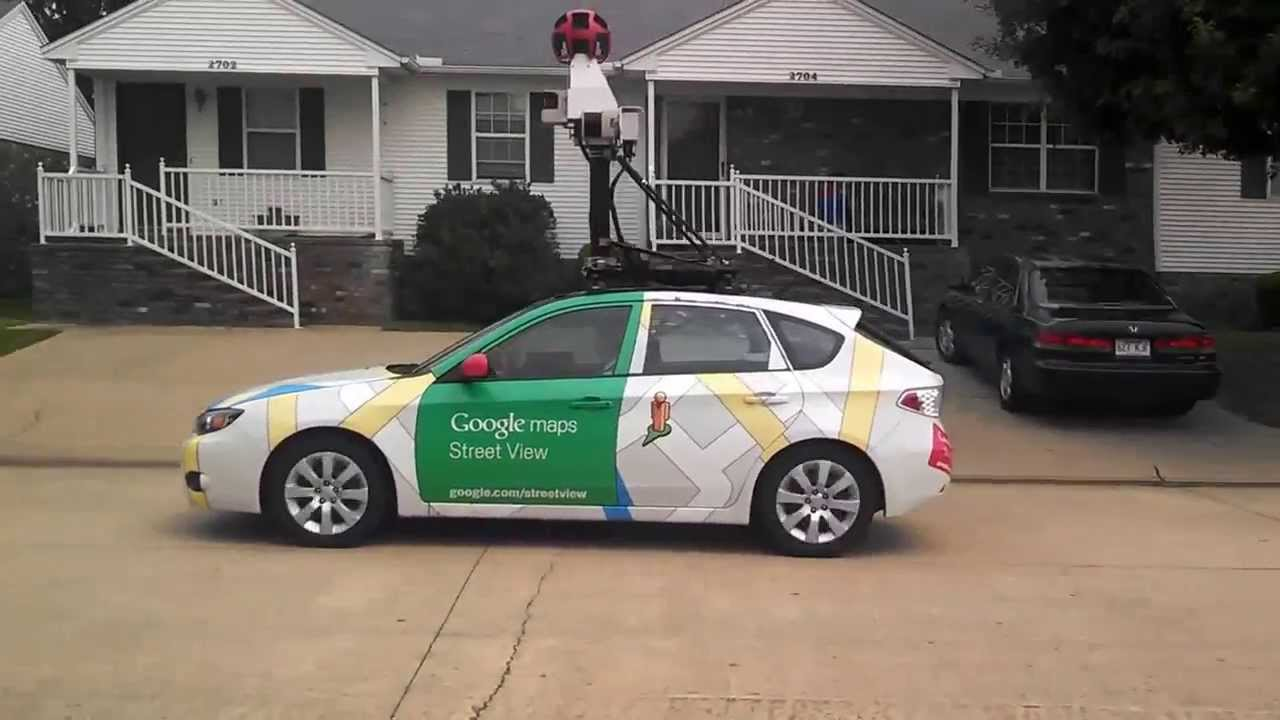 Google Street view Car in action!! Streetview YouTube
